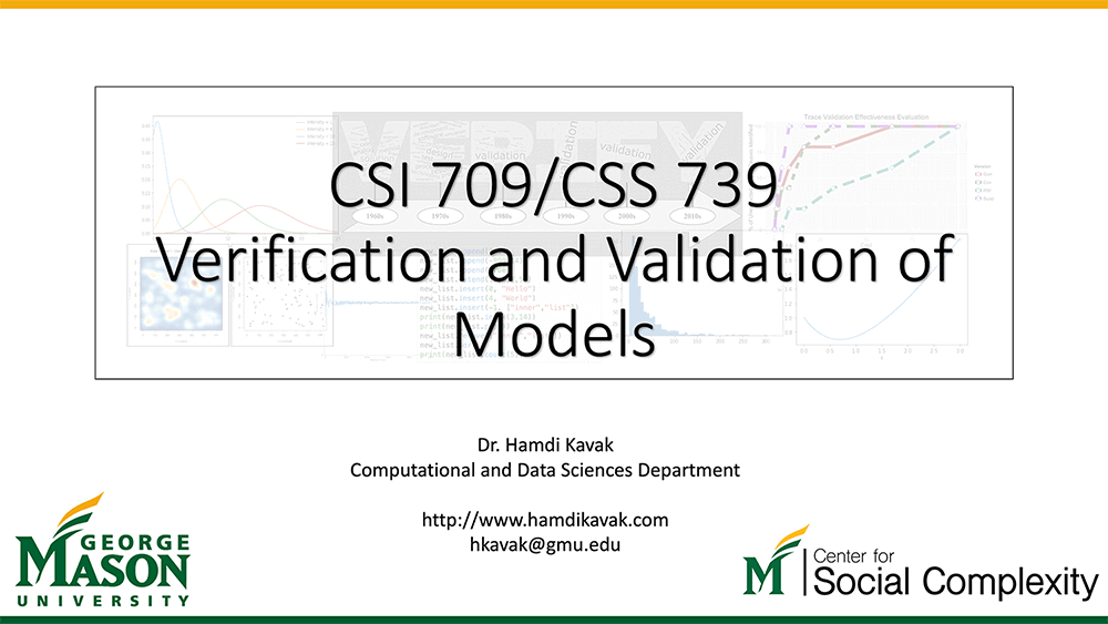 Verification and Validation Course